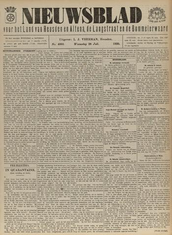 Nieuwsblad het land van Heusden en Altena de Langstraat en de Bommelerwaard 1920-07-28