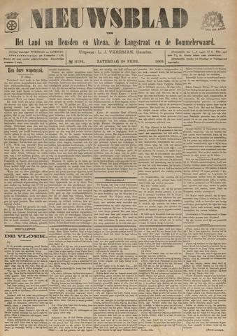 Nieuwsblad het land van Heusden en Altena de Langstraat en de Bommelerwaard 1903-02-28