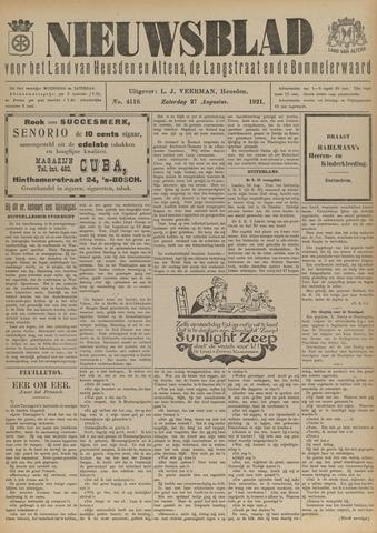 Nieuwsblad het land van Heusden en Altena de Langstraat en de Bommelerwaard 1921-08-27