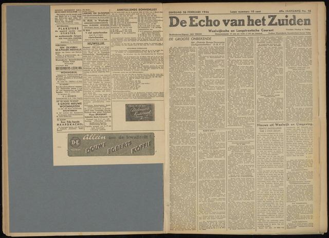 Echo van het Zuiden 1946-02-26