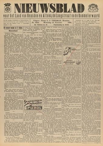 Nieuwsblad het land van Heusden en Altena de Langstraat en de Bommelerwaard 1928-11-14