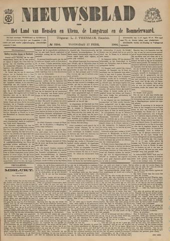 Nieuwsblad het land van Heusden en Altena de Langstraat en de Bommelerwaard 1904-02-17