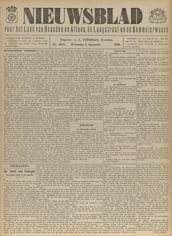 Nieuwsblad het land van Heusden en Altena de Langstraat en de Bommelerwaard 1920-09-08