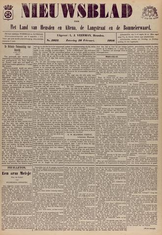 Nieuwsblad het land van Heusden en Altena de Langstraat en de Bommelerwaard 1910-02-26