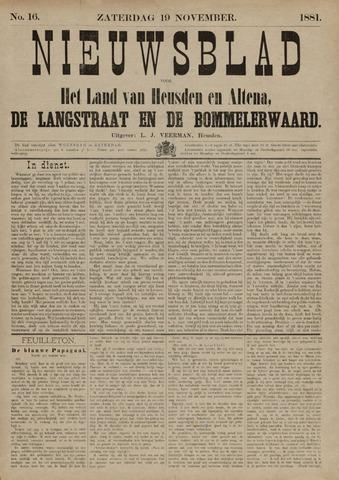 Nieuwsblad het land van Heusden en Altena de Langstraat en de Bommelerwaard 1881-11-19