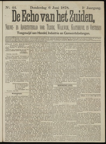 Echo van het Zuiden 1878-06-06