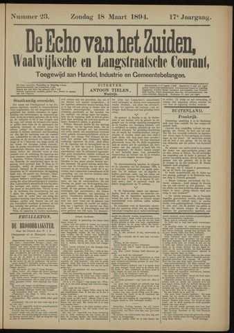 Echo van het Zuiden 1894-03-18