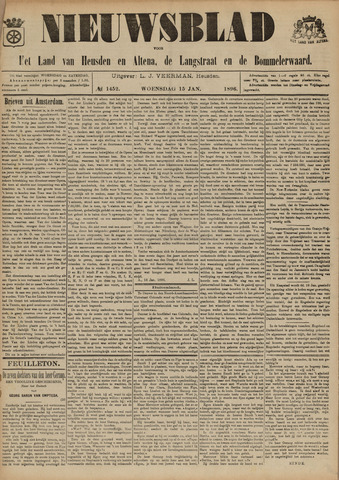 Nieuwsblad het land van Heusden en Altena de Langstraat en de Bommelerwaard 1896-01-15