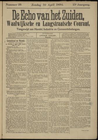 Echo van het Zuiden 1892-04-10