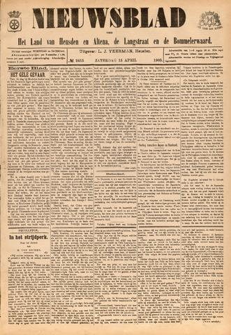 Nieuwsblad het land van Heusden en Altena de Langstraat en de Bommelerwaard 1905-04-15