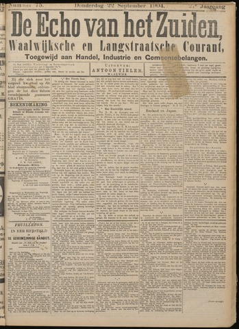 Echo van het Zuiden 1904-09-22