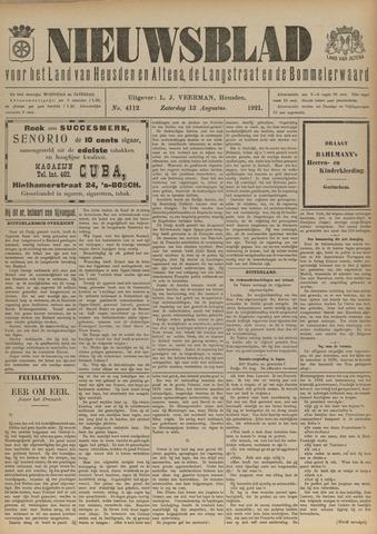 Nieuwsblad het land van Heusden en Altena de Langstraat en de Bommelerwaard 1921-08-13