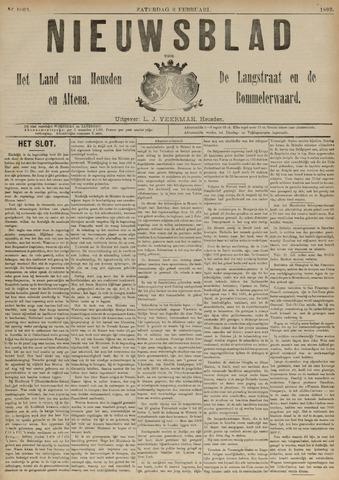 Nieuwsblad het land van Heusden en Altena de Langstraat en de Bommelerwaard 1892-02-06