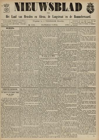Nieuwsblad het land van Heusden en Altena de Langstraat en de Bommelerwaard 1892-07-09