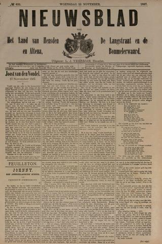 Nieuwsblad het land van Heusden en Altena de Langstraat en de Bommelerwaard 1887-11-23