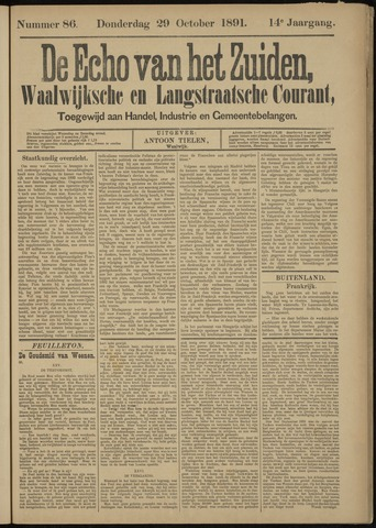 Echo van het Zuiden 1891-10-29