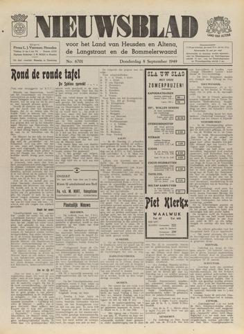Nieuwsblad het land van Heusden en Altena de Langstraat en de Bommelerwaard 1949-09-08