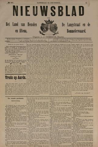 Nieuwsblad het land van Heusden en Altena de Langstraat en de Bommelerwaard 1887-12-24