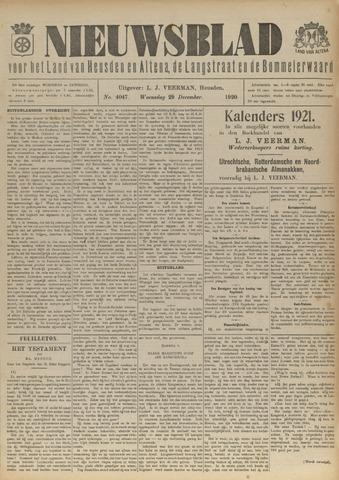 Nieuwsblad het land van Heusden en Altena de Langstraat en de Bommelerwaard 1920-12-29