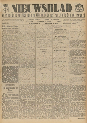 Nieuwsblad het land van Heusden en Altena de Langstraat en de Bommelerwaard 1923-04-18
