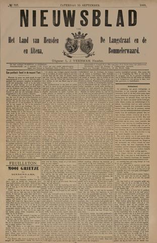 Nieuwsblad het land van Heusden en Altena de Langstraat en de Bommelerwaard 1888-09-15