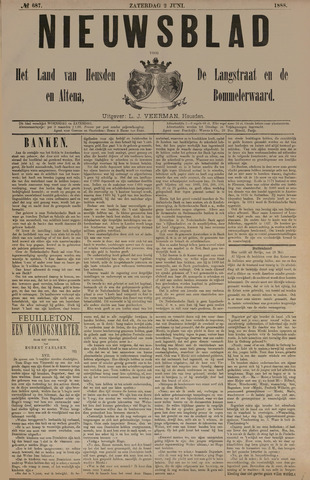 Nieuwsblad het land van Heusden en Altena de Langstraat en de Bommelerwaard 1888-06-02