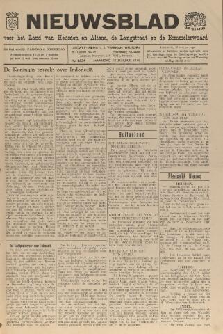 Nieuwsblad het land van Heusden en Altena de Langstraat en de Bommelerwaard 1949-01-10