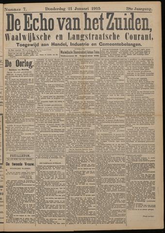 Echo van het Zuiden 1915-01-21