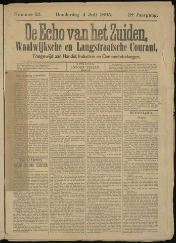 Echo van het Zuiden 1895-07-04