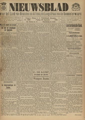 Nieuwsblad het land van Heusden en Altena de Langstraat en de Bommelerwaard 1923-09-28