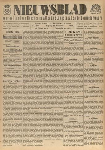 Nieuwsblad het land van Heusden en Altena de Langstraat en de Bommelerwaard 1923-12-21