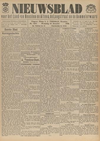 Nieuwsblad het land van Heusden en Altena de Langstraat en de Bommelerwaard 1924-12-24
