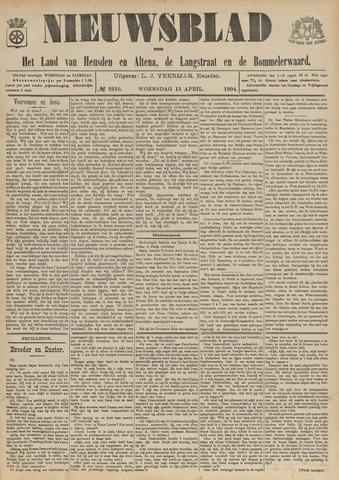 Nieuwsblad het land van Heusden en Altena de Langstraat en de Bommelerwaard 1904-04-13