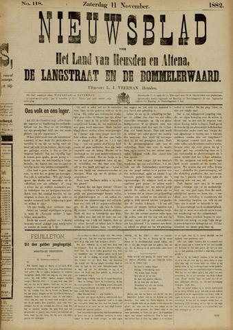 Nieuwsblad het land van Heusden en Altena de Langstraat en de Bommelerwaard 1882-11-11