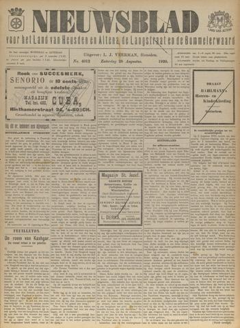 Nieuwsblad het land van Heusden en Altena de Langstraat en de Bommelerwaard 1920-08-28
