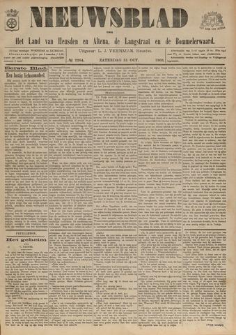Nieuwsblad het land van Heusden en Altena de Langstraat en de Bommelerwaard 1903-10-31