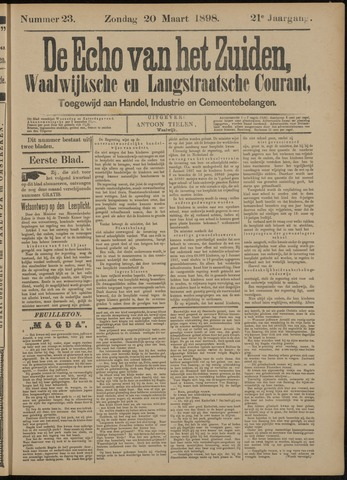 Echo van het Zuiden 1898-03-20