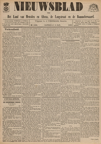 Nieuwsblad het land van Heusden en Altena de Langstraat en de Bommelerwaard 1900-01-06