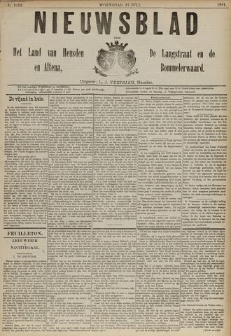 Nieuwsblad het land van Heusden en Altena de Langstraat en de Bommelerwaard 1891-07-23