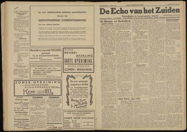Echo van het Zuiden 1948-07-29