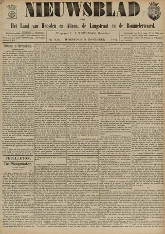 Nieuwsblad het land van Heusden en Altena de Langstraat en de Bommelerwaard 1892-11-16