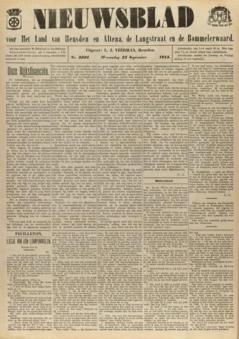 Nieuwsblad het land van Heusden en Altena de Langstraat en de Bommelerwaard 1915-09-22