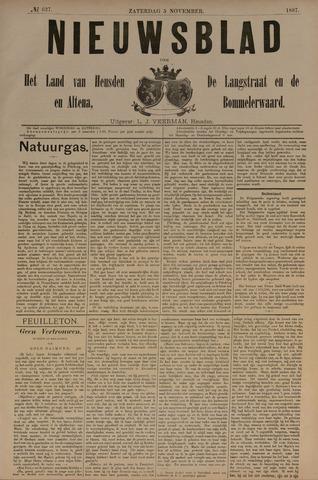 Nieuwsblad het land van Heusden en Altena de Langstraat en de Bommelerwaard 1887-11-05