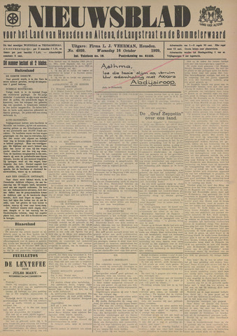 Nieuwsblad het land van Heusden en Altena de Langstraat en de Bommelerwaard 1929-10-16