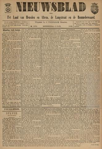 Nieuwsblad het land van Heusden en Altena de Langstraat en de Bommelerwaard 1895-01-03