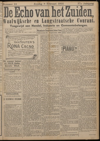 Echo van het Zuiden 1914-02-08