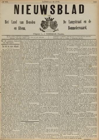 Nieuwsblad het land van Heusden en Altena de Langstraat en de Bommelerwaard 1890-06-28