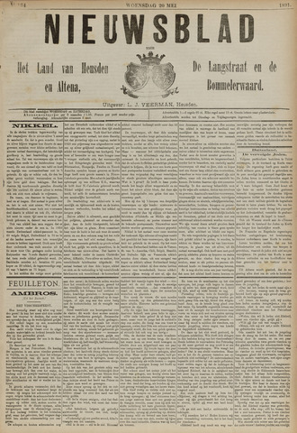 Nieuwsblad het land van Heusden en Altena de Langstraat en de Bommelerwaard 1891-05-20