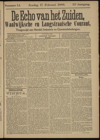Echo van het Zuiden 1889-02-17