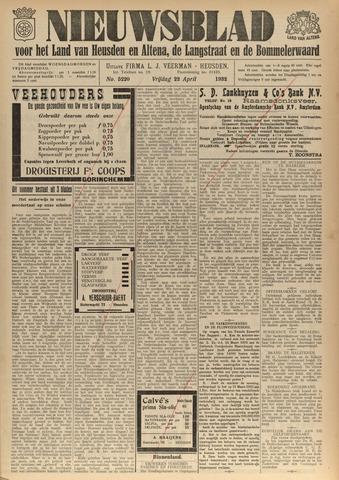 Nieuwsblad het land van Heusden en Altena de Langstraat en de Bommelerwaard 1932-04-22